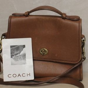 Coach 9870 Tan Court Crossbody Bag 9870